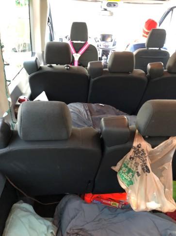 sleeping in van 2