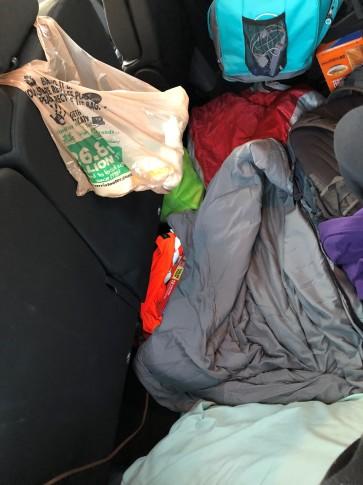 sleeping in van