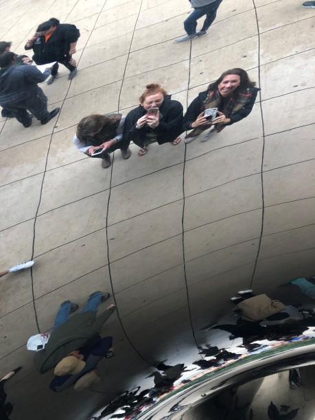 Girls at the Bean